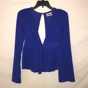 Urban Outfitters Deep Plunge Blouse